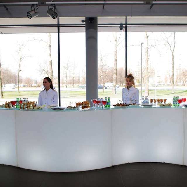 led bar counter product page LED Curved Bar Counters   Colorfuldeco