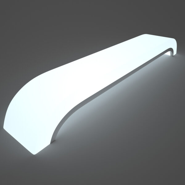 LED Light Up Plastic Benches